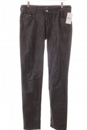 Armani Jeans Straight-Leg Jeans dunkelgrau Washed-Optik
