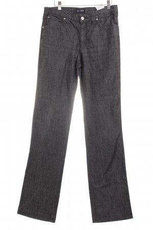 Armani Jeans Straight-Leg Jeans graublau meliert Casual-Look