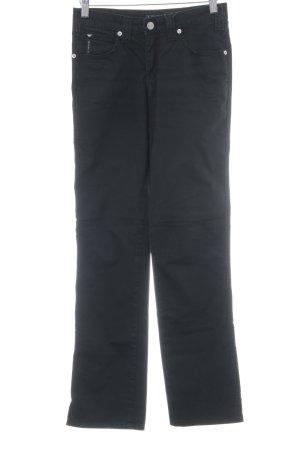 Armani Jeans Straight-Leg Jeans schwarz klassischer Stil