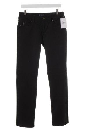 Armani Jeans Jeans met rechte pijpen zwart simpele stijl