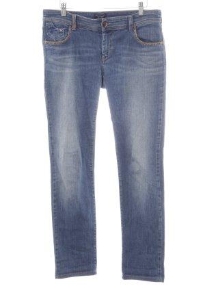 Armani Jeans Straight-Leg Jeans stahlblau Casual-Look