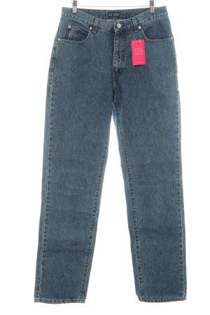 Armani Jeans Vaquero rectos azul acero look casual