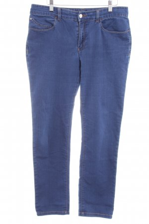 Armani Jeans Stretch Jeans stahlblau Street-Fashion-Look