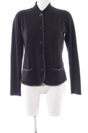 Armani Jeans Strickjacke schwarz schlichter Stil