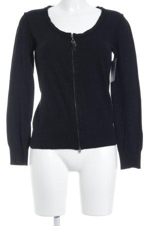 Armani Jeans Strickjacke schwarz klassischer Stil