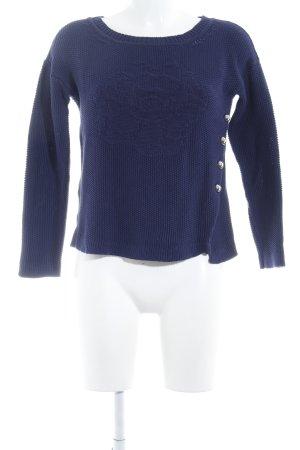 Armani Jeans Strickpullover dunkelblau Casual-Look