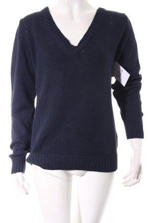 Armani Jeans Strickpullover dunkelblau klassischer Stil