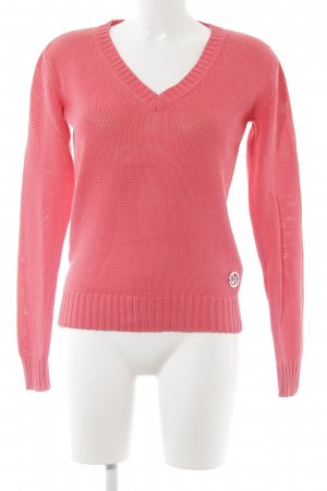 Armani Jeans Strickpullover magenta Street-Fashion-Look