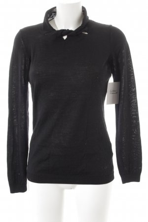 Armani Jeans Strickpullover schwarz Casual-Look