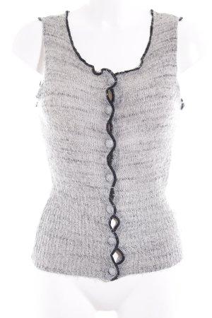Armani Jeans Chaleco de punto gris-negro moteado look casual