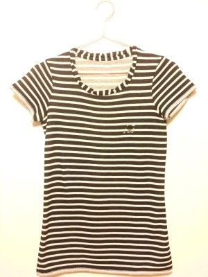 Armani Jeans Gestreept shirt donkerblauw-wit