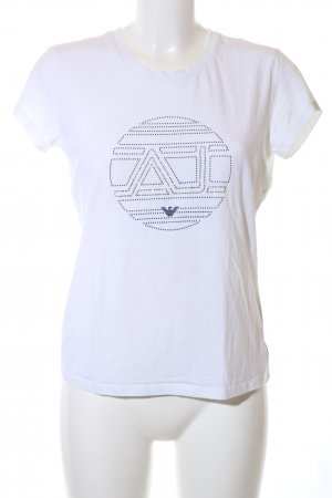 Armani Jeans T-Shirt weiß Casual-Look