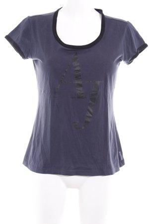 Armani Jeans T-Shirt dunkelblau schlichter Stil