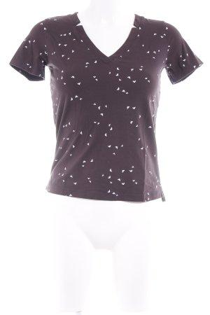 Armani Jeans T-Shirt dunkelbraun-weiß Monogram-Muster