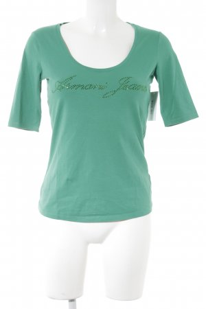 Armani Jeans T-Shirt grün Casual-Look