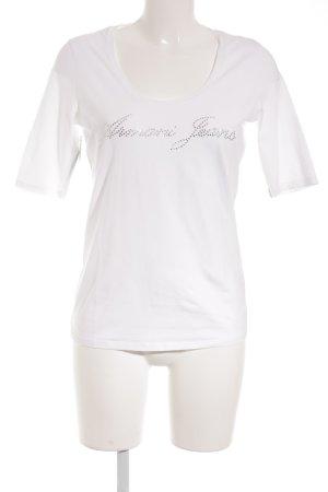 Armani Jeans T-Shirt hellbeige sportlicher Stil