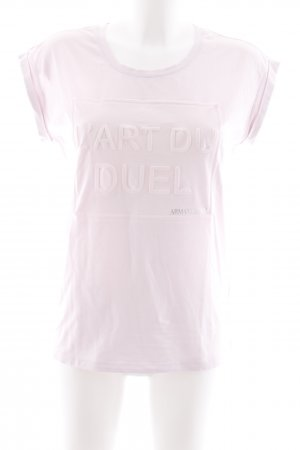 Armani Jeans T-Shirt hellrosa Schriftzug gedruckt Casual-Look