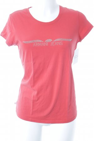 Armani Jeans T-Shirt lachs-rot Casual-Look
