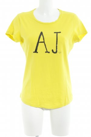 Armani Jeans T-Shirt neongelb Casual-Look