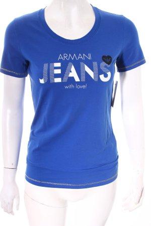 Armani Jeans T-Shirt Schriftzug gedruckt schlichter Stil