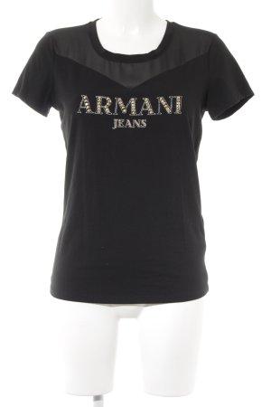 Armani Jeans T-Shirt black casual look