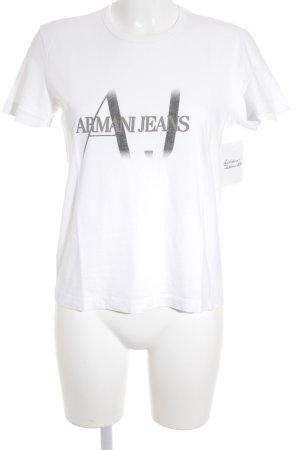 Armani Jeans T-Shirt weiß sportlicher Stil