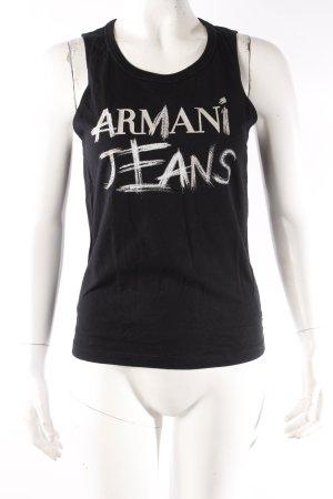 Armani Jeans Tanktop schwarz