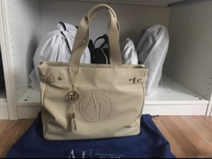 Armani Jeans Carry Bag cream-gold-colored