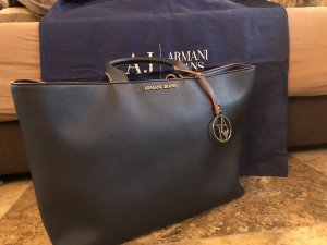 Armani Jeans Frame Bag dark blue-orange