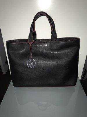 Armani Jeans Shopper zwart-rood