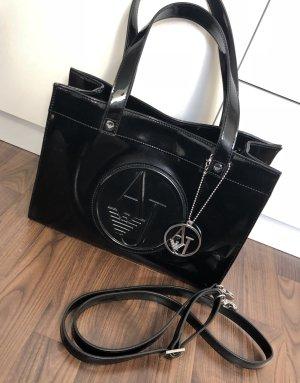 Armani Jeans Crossbody bag black-silver-colored