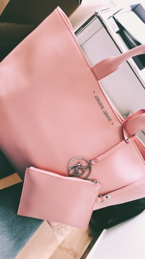Armani Jeans Carry Bag pink