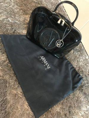 Armani Jeans Bowlingtas zwart-zilver