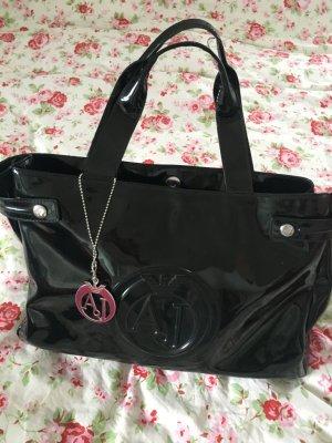 Armani Jeans Tasche schwarz/ Lack