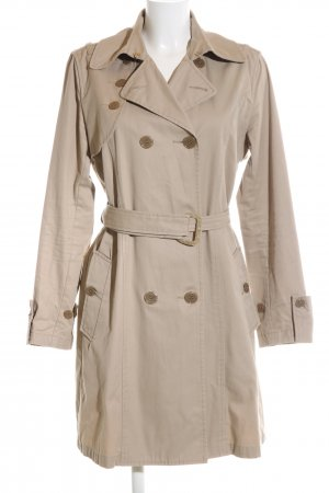 Armani Jeans Trenchcoat wollweiß Casual-Look