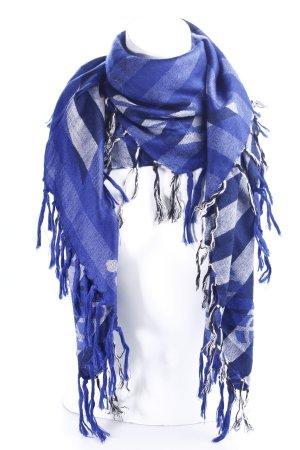 Armani Jeans Foulard blu-bianco modello monogramma stile marinaro