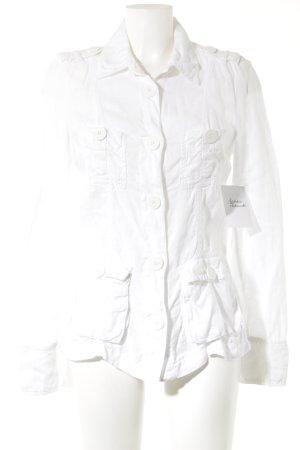 Armani Jeans Übergangsjacke weiß klassischer Stil