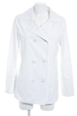 Armani Jeans Übergangsmantel weiß schlichter Stil