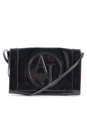 Armani Jeans Gekruiste tas zwart prints met een thema casual uitstraling