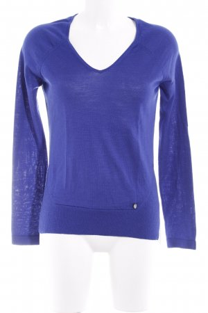 Armani Jeans V-Neck Sweater blue casual look
