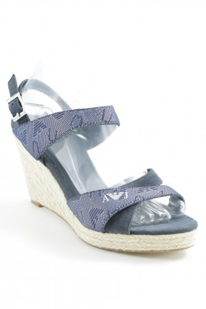Armani Jeans Wedge Sandals abstract pattern casual look