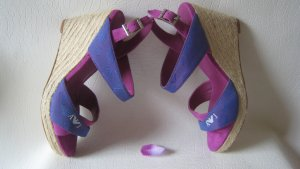 Armani Jeans Sandalen met hoge hakken veelkleurig Leer