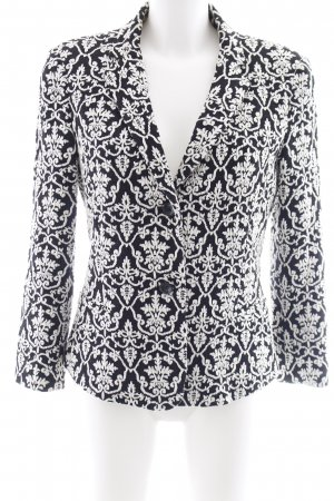 Armani Jeans Woll-Blazer schwarz-weiß Ornamentenmuster Casual-Look