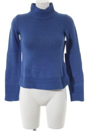 Armani Jeans Wollen trui korenblauw-staalblauw gestreept patroon klassieke stijl