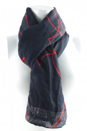 "Armani Jeans Wollschal ""Hearts Scarf Dark Navy"""
