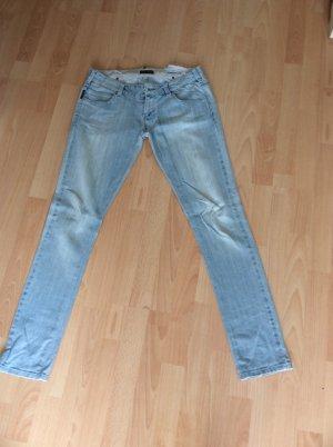 Armani Jeans Jeans a sigaretta azzurro