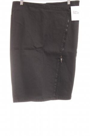 Armani Denim Skirt black-dark grey weave pattern casual look