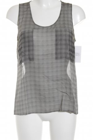 Armani Checked Blouse grey-dark grey check pattern '20s style