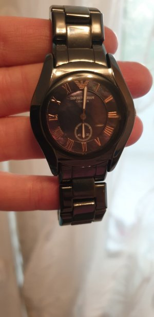 Armani Watch With Metal Strap black
