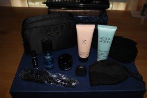 Armani Trousse à maquillage bleu foncé acétate